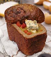Рецепт Холодный овощной суп в хлебе