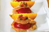Рецепт Куриные отбивные с соусом из персиков