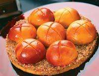 Рецепт Ореховый пирог с персиками