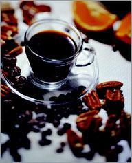 Рецепт Апельсиновый кофе с орехом пекан