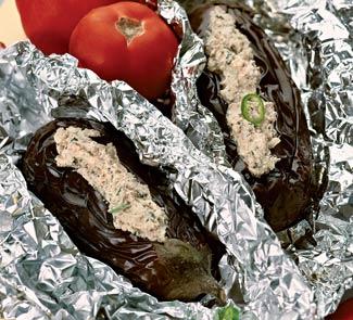 Рецепт Холодная закуска из фаршированных баклажанов