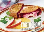 Рецепт Свекольный шницель с сырной начинкой