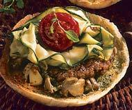 Рецепт Гамбургер с грибами и песто