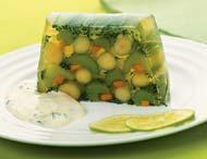 Рецепт Заливное из сельдерея, моркови и спаржи