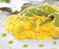 Рецепт Тальятелле с зеленым горошком и бобами