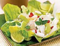 Рецепт Острый тайский салат с кальмарами
