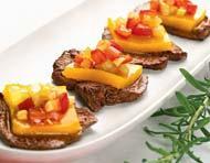 Рецепт Медальоны из говядины с конкасе из овощей и желе из желтого перца