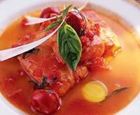 Рецепт Палтус в соусе из помидоров с шафраном