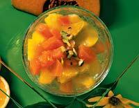 Рецепт Компот из тыквы с апельсином и персиком