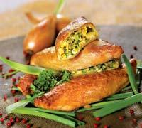 Рецепт Пирожки с зеленым луком и яйцом