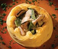 Рецепт Куриное фрикасе с грибами
