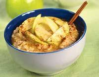 Рецепт Овсяная каша с яблоками и корицей