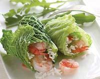 Рецепт Голубцы из савойской капусты с креветками
