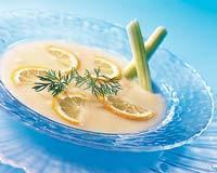 Рецепт Крем-суп из лука-порея с морскими гребешками