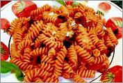 Рецепт Фузили с баклажанами и помидорами черри
