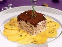"""Рецепт Карпаччо из манго с мороженым """"тирамису"""""""