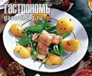 Рецепт Щавель, семга и перченая груша
