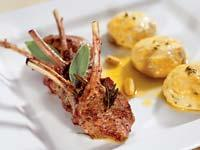 Рецепт Баранина и ленивые вареники с ароматными травами с соусом из шалфея