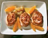 Рецепт Медальоны из свинины с мандаринами