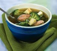 Рецепт Зеленый суп с яичным суфле