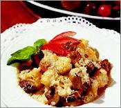 Рецепт Цветная капуста, фаршированная грибами и сыром