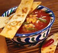 Рецепт Мексиканский суп с тортильями
