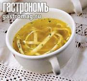 Рецепт Бульон с лапшой из блинчиков