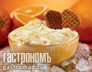 Рецепт Апельсиновое мороженое с белым шоколадом