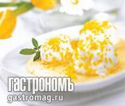 """Рецепт Яичный десерт """"Снежки с карамелью"""""""