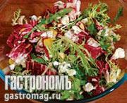 Рецепт Салат с миндалем и рокфором