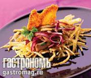 Рецепт Теплый салат из вешенок