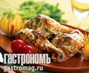 Рецепт Цыпленок в сливочном соусе с укропом