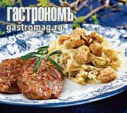 Рецепт Телятина с капустой и миндальными клецками