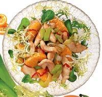 Рецепт Салат из курицы с мандаринами