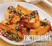 Рецепт Румяный тофу с чили и чесноком