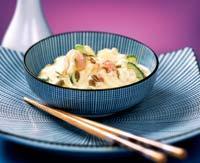 Рецепт Салат из креветок с йогуртом и карри