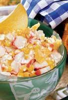 Рецепт Кукурузный салат с чипсами
