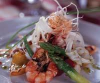 Рецепт Теплый салат из морепродуктов с песто