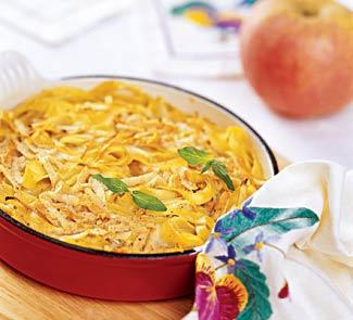 Рецепт Запеканка из лапши с морковью и яблоками