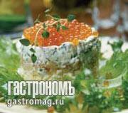 Рецепт Праздничный икорный торт
