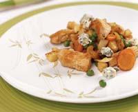 Рецепт Фрикасе из индейки с голубым сыром