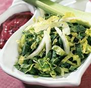 Рецепт Салат из щавеля, шпината и сельдерея
