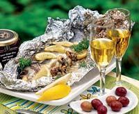 Рецепт Рыба, фаршированная шампиньонами