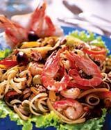 Рецепт Салат морской со спагетти
