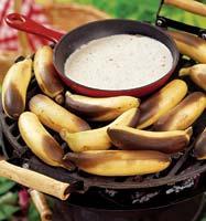Рецепт Бананы с ромовым соусом