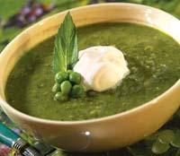 Рецепт Суп из молодого горошка с мятой