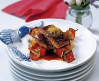 Рецепт Угорь с овощами