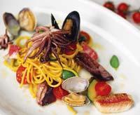 Рецепт Спагетти с цуккини и дарами моря