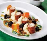 Рецепт Рулеты из кролика с грибным соусом