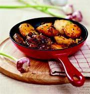Рецепт Карамелизированный картофель с сушеными томатами